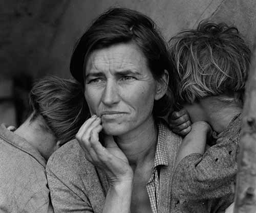 Florence Thompson,Migrant Mother,Dorothea Lange,Farm Security Administration