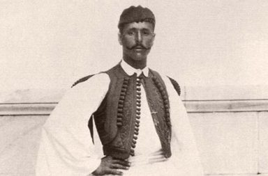 Spyros Louis, the first Marathon race winner of the Modern Olympic Games, 1896