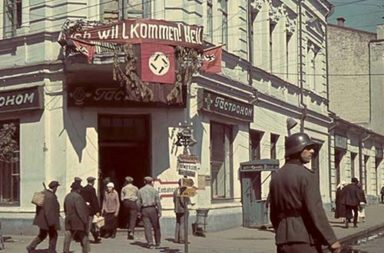 The German Occupation of Kharkov in color, 1941