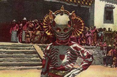 A Tibetan skeleton dancer