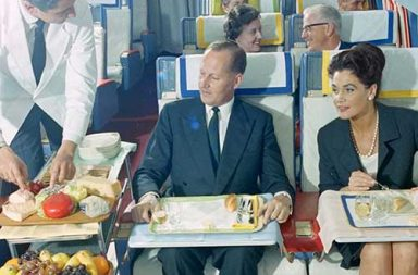 Flying first class in the 1960s