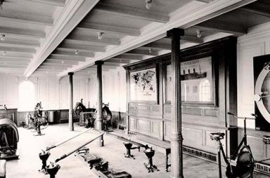 The state of the art gym on the Titanic, 1912