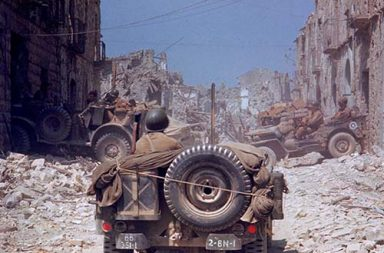 The Italian Campaign and the Road to Rome in rare color photos, 1943-1945