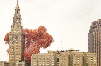 When Cleveland released 1.5 million balloons and two men died, 1986