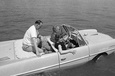 The Amphicar that President Lyndon Johnson used to prank people, 1960s