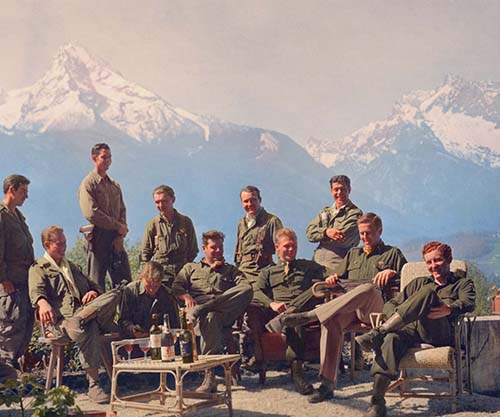 "The men of Easy Company at Hitler's ""Eagle's Nest"", 1945"