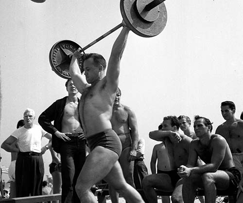 The original Muscle Beach, 1949