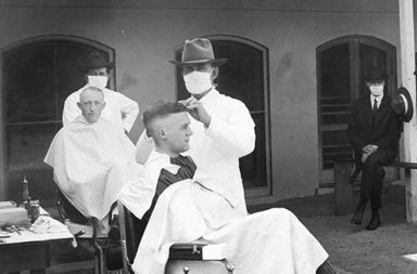 The use of masks during the Spanish flu pandemic, 1918