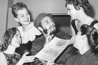Fidel Castro and his American admirers, 1959