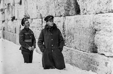 Jerusalem in a rare heavy snow, 1921