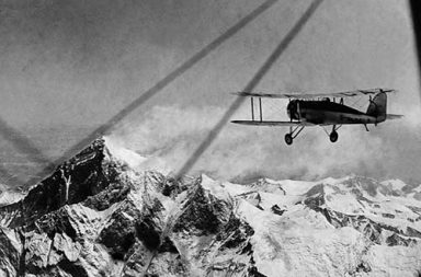 The first men flying over Everest, 1933
