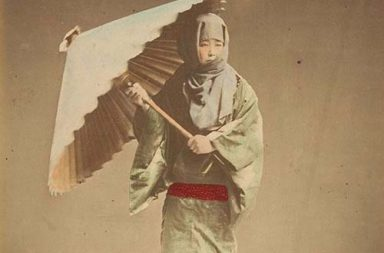 Hand-colored photographs of Japan on the brink of modernity, 1870s