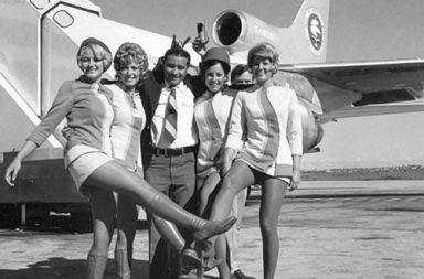 A historical look at the sexy stewardesses of the 1960s-1980s