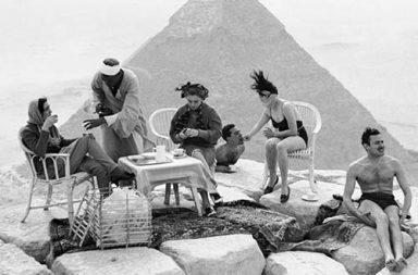 Early tourists visiting the Pyramids and the ruins of Ancient Egypt, 1860-1930