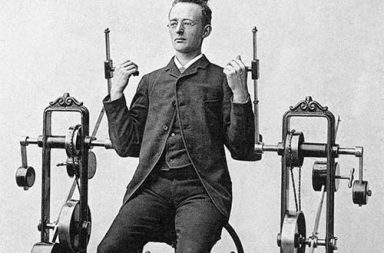 The world's first gym machines designed by Dr. Gustaf Zander, 1892