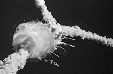 The Challenger disaster that unfolded on live television, 1986