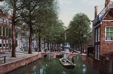 Wonderful color postcards of the Netherlands, 1890s