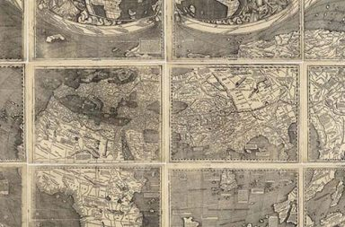 The Waldseemüller's map that introduced the word America to the world, 1509