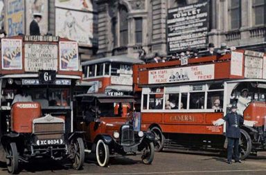Rare color photos capture England at work and play, 1920s