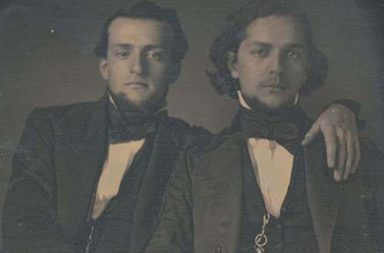 Rare photographs of men embracing intimately in Victorian times, 1850-1890