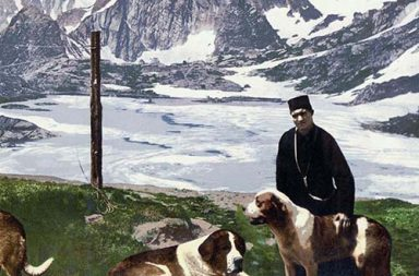 Color postcards depicting the life in Switzerland, 1890